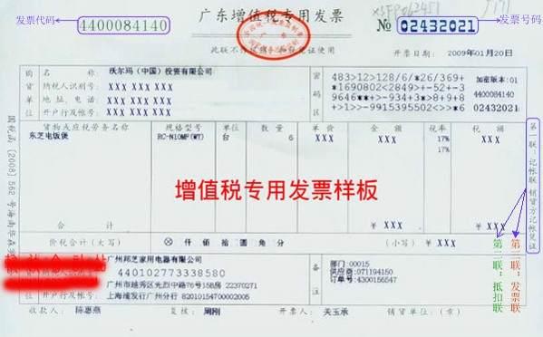 增值税专用发票样式