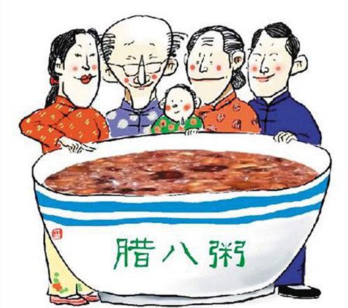 吃腊八粥,用以庆祝丰收,一直流传至今.