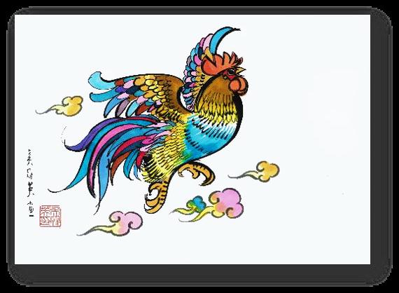 吴冠英初中教育两幅画作生肖老师视频青春期创作图片