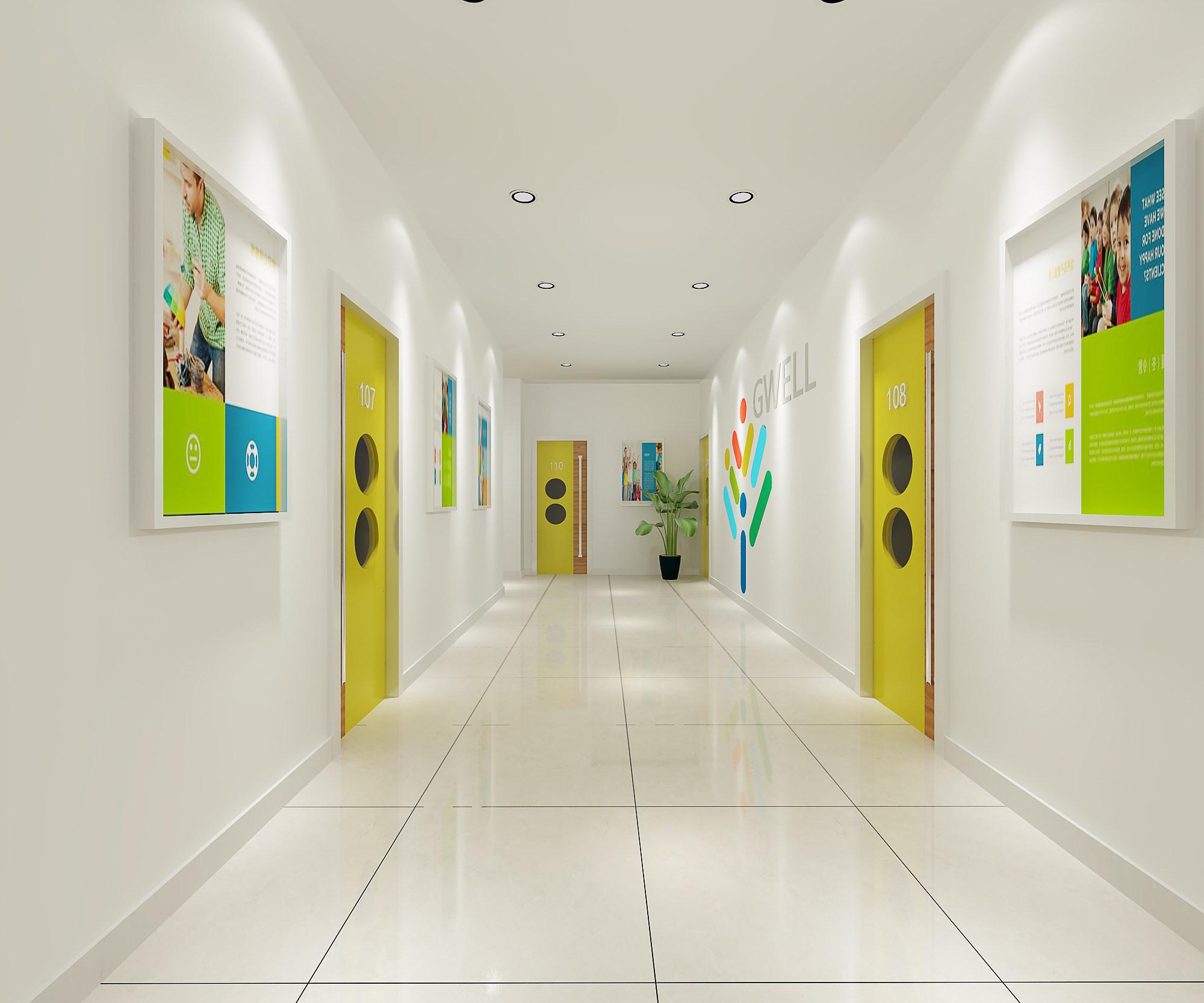 口令:学数学就到冀未来 全新的教室,色彩艳丽的墙体以及焕然一新的新