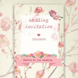 婚礼 邀请函 结婚 花
