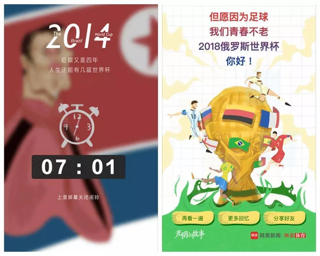 网易h5:世界杯光阴的故事
