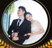 邓梅&杨晓斌夫妇元旦婚礼邀请函